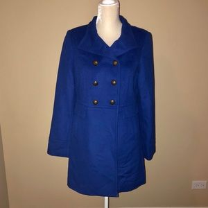 💙Cobalt Blue Double Breasted Pea Coat💙